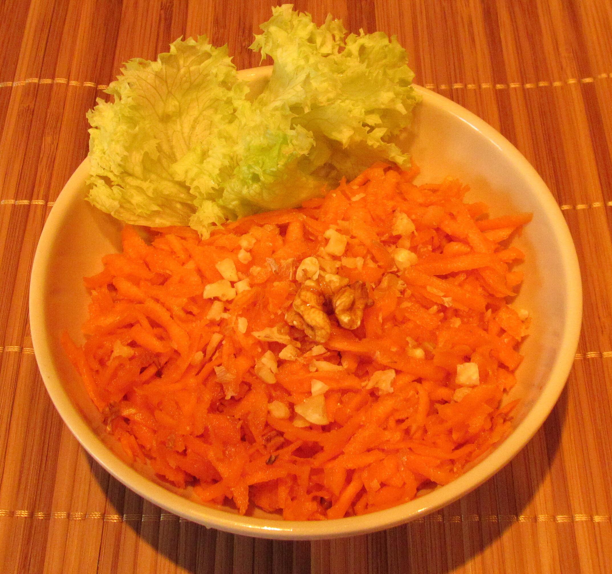 Салат из моркови с грецкими орехами рецепт