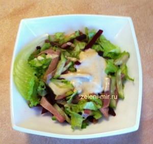 салат из языка